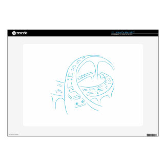 Freeway Cars Line Drawing Laptop Decal