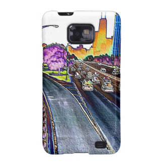 Freeway Driving in Colored Foil Galaxy SII Cover