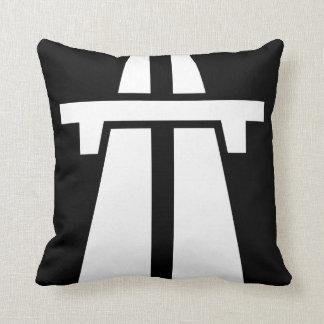 Freeway, Motorway, Autobahn - White Pillow