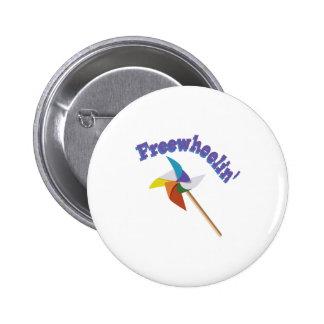 Freewheelin Pin Redondo 5 Cm
