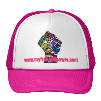freewillpower: winning pink cap trucker hat