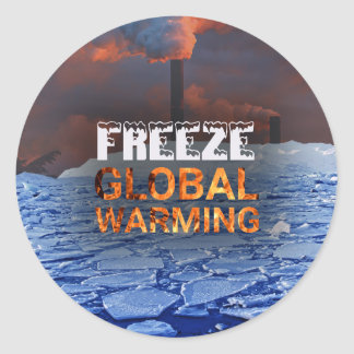Freeze Global Warming Sticker