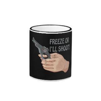 Freeze Or Ill Shoot Ringer Mug