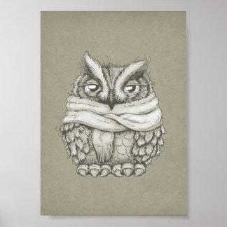 Freezin Owl Poster