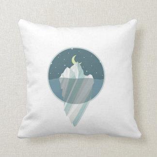 Freezing breeze throw pillow
