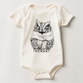 Freezing Owl Baby Bodysuit