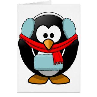 Freezing Penguin Greeting Cards
