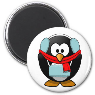 Freezing penguin magnet