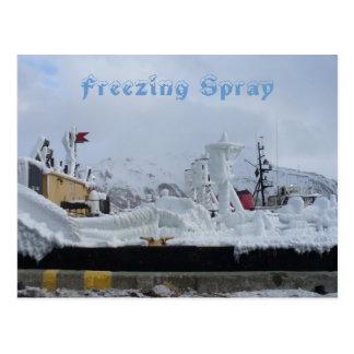 Freezing Spray on a Fuel Barge, Dutch Harbor, AK Postcard