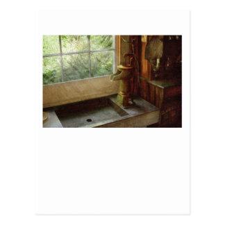 Fregadero - bomba de agua tarjetas postales