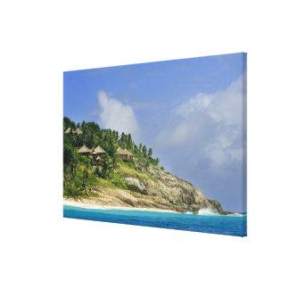 Fregate Island resort PR) Canvas Print