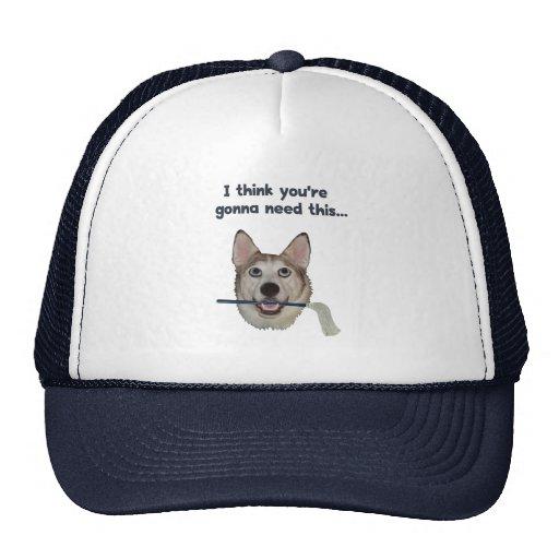 Fregona de la necesidad del humor del perro gorra