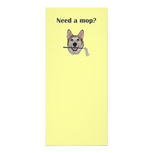 Fregona de la necesidad del humor del pis del perr lona personalizada