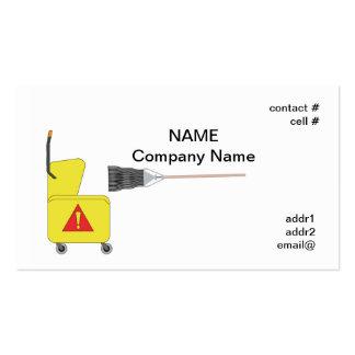 fregona y cubo tarjeta de negocio