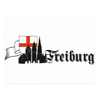 Freiburg by histórico Freiburg.de Tarjeta Postal