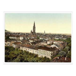 Freiburg, general view, Baden, Germany classic Pho Postcard