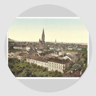 Freiburg, general view, Baden, Germany classic Pho Round Sticker
