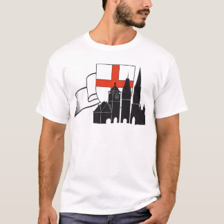 Freiburg silhouette with coats of arms and loop T-Shirt