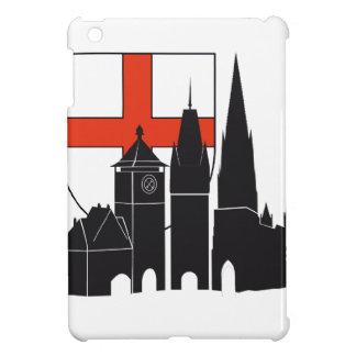 Freiburg silueta con escudos de armas iPad mini cárcasa
