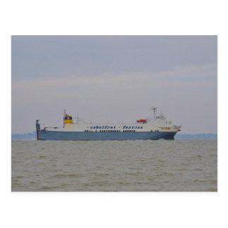 Freight Ferry Victorine Postcard