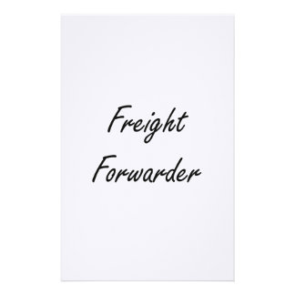 Freight Forwarder Artistic Job Design Stationery