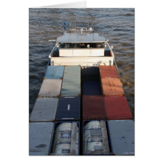 Freight ship on the Meuse, Rotterdam Card