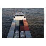 Freight ship on the Meuse, Rotterdam Greeting Card
