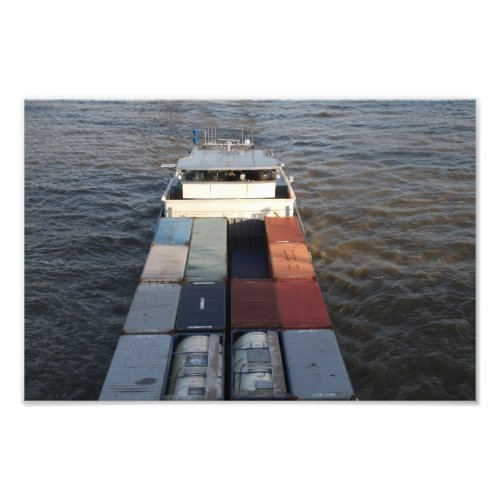 A container ship on the Meuse river