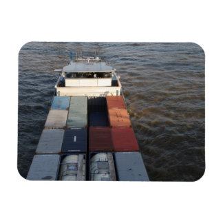 Freight ship on the Meuse, Rotterdam Rectangular Photo Magnet