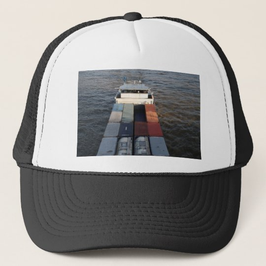 Freight ship on the Meuse, Rotterdam Trucker Hat
