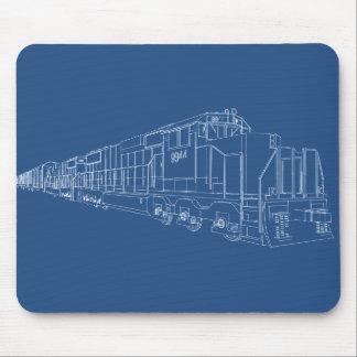 Freight Train Blueprint: Railroad: Mouse Pad