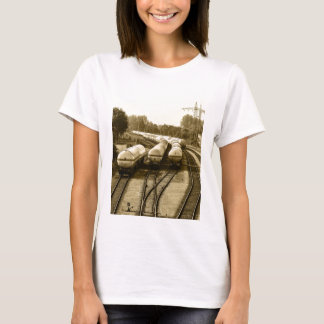 Freight train on holding track T-Shirt