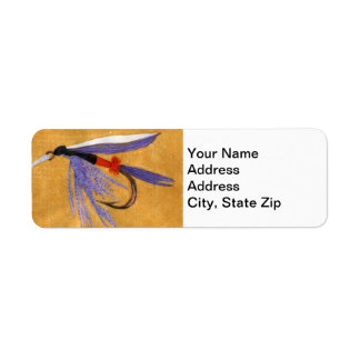 """""""Freight Train"""" Trout Fly Return Address Label"""