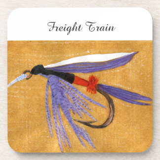 """""""Freight Train"""" Trout Wet Fly Coaster"""