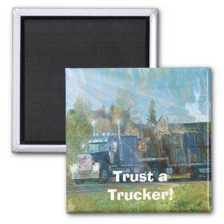 FREIGHT TRUCK BIG RIG TRUCKERS Gifts Fridge Magnet