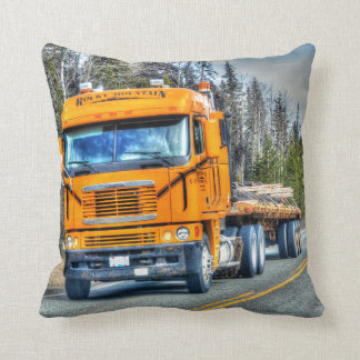 Freight Truck Lorry Heavy Transport Truck-Driver Throw Pillow