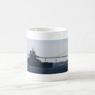 Freighter and bridge coffee mug