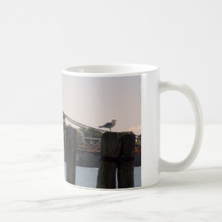 Freighter Gull and Pilings Coffee Mug