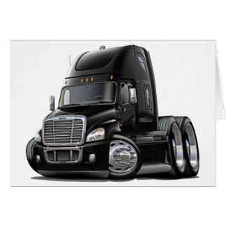 Freightliner Cascadia Black Truck Card