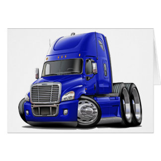 Freightliner Cascadia Blue Truck Card