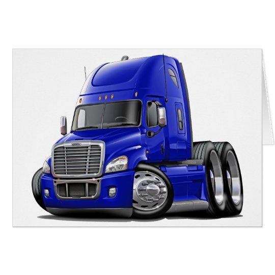 Freightliner Cascadia Blue Truck Card
