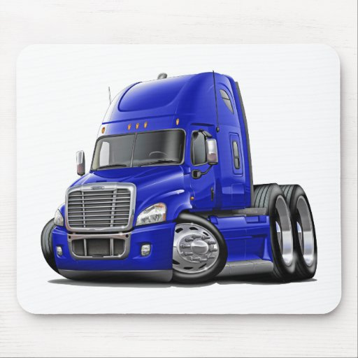 Freightliner Cascadia Blue Truck Mouse Pad