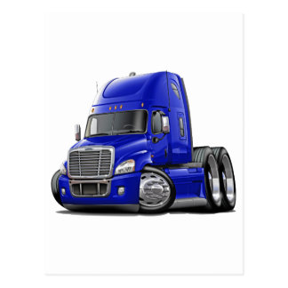 Freightliner Cascadia Blue Truck Postcard