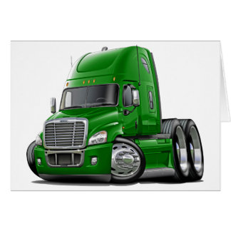 Freightliner Cascadia Green Truck Card