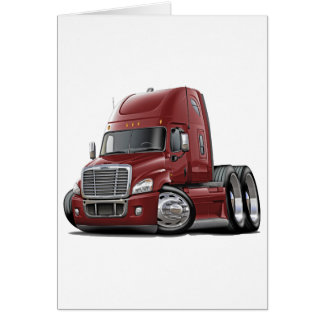 Freightliner Cascadia Maroon Truck Card
