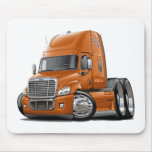 Freightliner Cascadia Orange Truck Mouse Pad