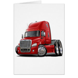 Freightliner Cascadia Red Truck Card
