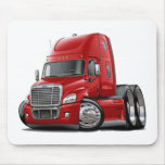 Freightliner Cascadia Red Truck Mouse Pad