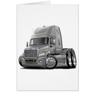 Freightliner Cascadia Silver Truck Card