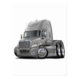 Freightliner Cascadia Silver Truck Postcard